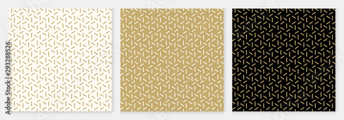 Background pattern seamless geometric line abstract gold luxury color vector Canvas Print