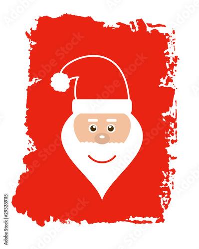 Gemalte rote grunge Textur: Weihnachtsmann