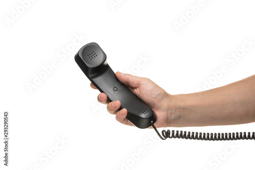 Obraz 受話器を持つ手 - fototapety do salonu