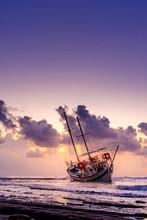 Fishing Boat Shipwreck Or Aban...