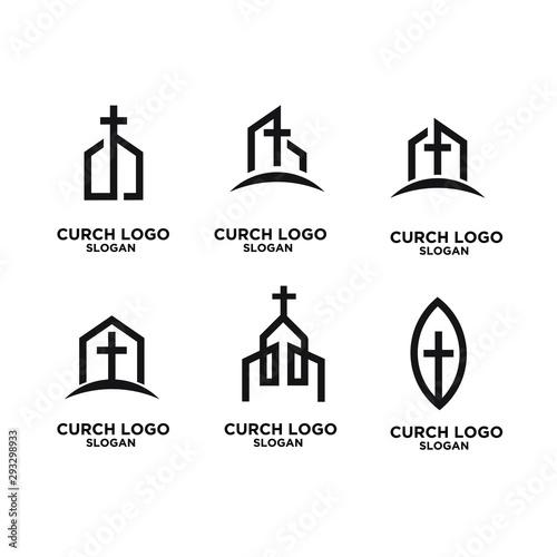 set church minimal logo icon designs