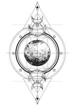 Triple Moon Pagan Wicca Moon G...