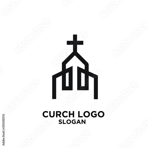 Fotografie, Tablou church minimal logo icon designs