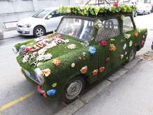 Car Covered With Vegetation Ru...