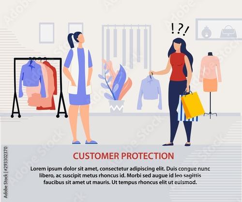 Fototapeta Customer Protection Program Advertising Poster