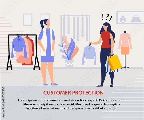 Photo Customer Protection Program Advertising Poster