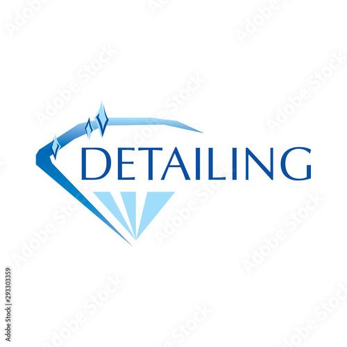 Fototapeta Vector logo for detailing car and tuning obraz