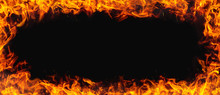 Fire Texture With Black Backgr...