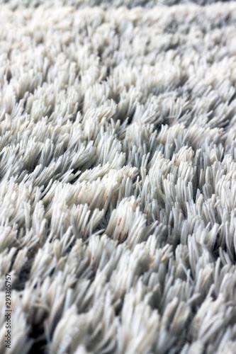 Fototapeta  Texture ou fond verticale de laine blanche épaisse