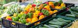 Biogemüse auf dem Wochenmarkt