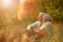 Portrait Of Happy Senior Woman And Man