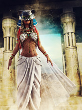 Ancient Egyptian Priestess Wit...