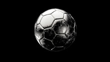 Silver Soccer Metal Ball Isola...
