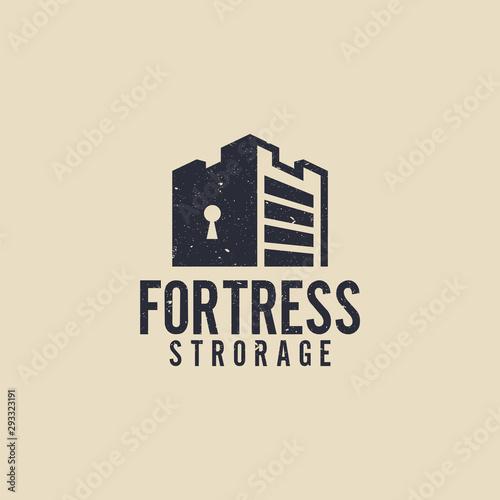 Fortress storage logo Wallpaper Mural