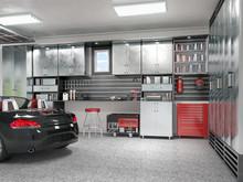 Modern Garage Interior. 3d Ill...