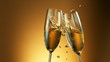 canvas print picture - Champagne wine toast