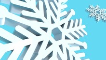 Snowflakes In Blue Background