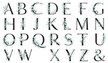 Floral Alphabet, Letters With ...