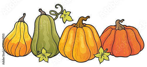 Photo sur Toile Enfants Pumpkins theme image 1