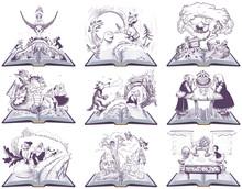 Fairy Tale Open Book Illustrat...