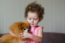 Beautiful Little Girl With Cur...
