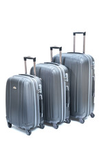 Set Of Gray Suitcases Large, M...