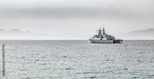 South African Navy Frigate warship Wallpaper Mural