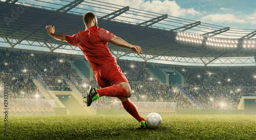 Soccer player in action Wallpaper Mural