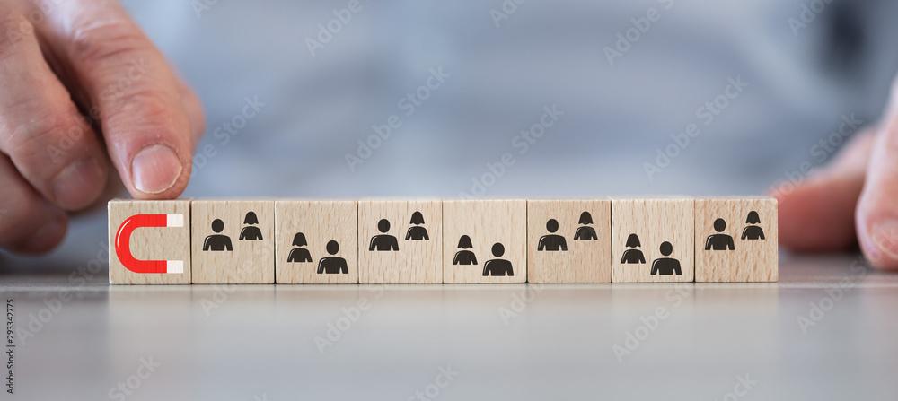 Fototapeta Concept of customer attraction