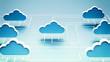 Leinwandbild Motiv Cloud Computing Network concept