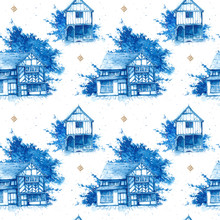 Seamless Pattern With Watercol...
