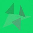 Leinwanddruck Bild - paper stars sign icon