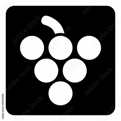Grape icon illustration Canvas-taulu