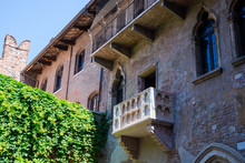 Balcony In Juliet's  House In Verona, Italy