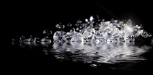 Diamonds Reflecting In Water O...