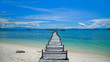 Old wooden pier. Indonesia