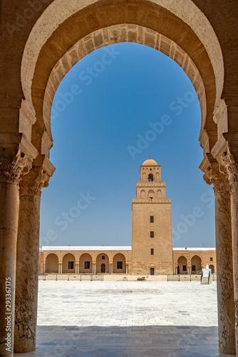 Fototapeta La Gran Mezquita de Kairouan. Túnez, África del Norte obraz na płótnie
