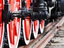 Railroad, Train. Old Diesel Lo...