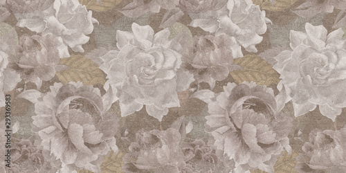 Staande foto Retro vintage floral background with flowers
