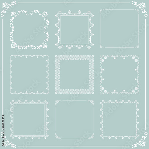 Vintage set of vector elements Wallpaper Mural