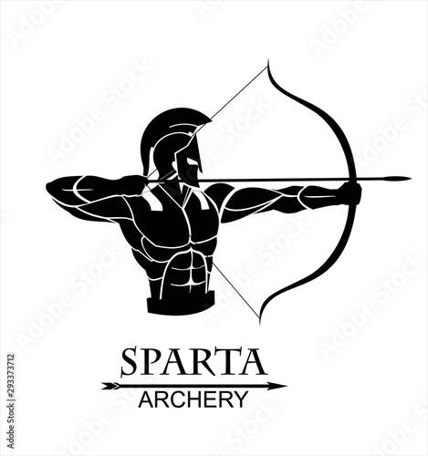 Trojan warrior with the bow, sparta archery Fototapeta