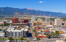 Aerial Of Downtown Colorado Sp...