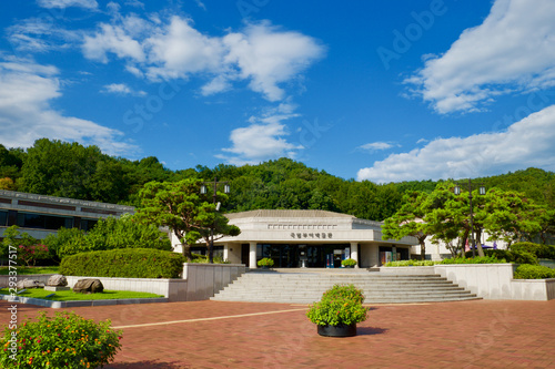 Fototapeta National Buyeo Museum Main Building Entrance.