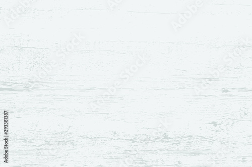 Fototapety, obrazy: White wood plank texture for background. Vector illustration.