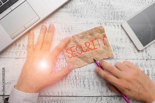 Photo Handwriting text writing Security