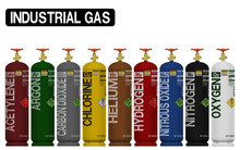 Set Of Isolated Industrial Gas...