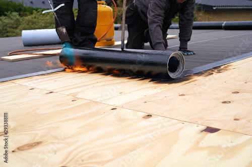 Photo Bitumen roofing