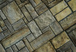 Stone wall with stones laid out diagonally