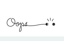 Handwritten Lettering With Text Oops - 404 Error.