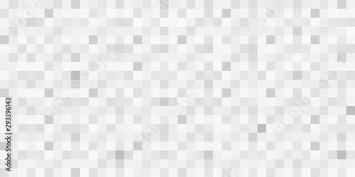 Fotografie, Obraz Abstract seamless mosaic vector background. Grey squares.